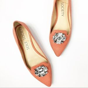 🎊Sole Society Libry Coral Pointed Toe Flats🎊